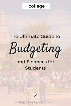 The Ultimate Guide to College Budgeting + Finances for Students! Manage your The Ultimate Guide to College Budgeting + Finances for Students! Manage your learn what costs will be coming your way, and create your own personalized College Survival Guide, College Guide, College Checklist, College Essentials, Survival Kits, College Test, Education College, College Club, College Hacks