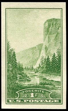 national park stamps | US National Parks stamps - 1934 - Yosemite