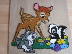 Bambi hama beads by Hama Beads Disney, Hama Disney, Bambi, Pearler Bead Patterns, Perler Patterns, Melty Bead Designs, Art Perle, Motifs Perler, Perler Bead Templates