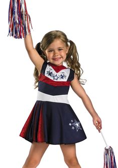 Girls Cheerleader Outfit Kids Halloween Costume  sc 1 st  Pinterest : toddler cheerleading costumes  - Germanpascual.Com