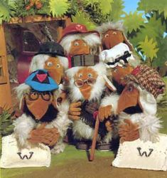 the wombles .. 'remember you're a womble ...' picking up litter on Wimbledon common .. I loved orinoco and had little plastics toys of them that went on the end of pencils ...
