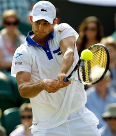 Andy Roddick- retiring after this US open. I've been enjoying him play in the Champions Tour!