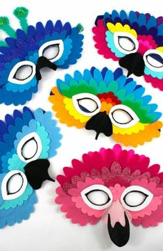 DIY Wrapping Gifts Inspiration: Foam crown DIY for the dressing up box. Cute idea for- DIY Wrapping Gifts Inspiration : Foam kroon diy voor de verkleedkist. Cute idea for moldes de mascaras de aves para niños - Diy And Crafts, Crafts For Kids, Bird Masks, Diy Crown, Animal Masks, Elastic Headbands, Inspirational Gifts, Mask For Kids, Beautiful Birds