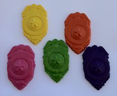 Police badge crayon  Birthday   Party favor by Krazeekrayons, $4.99