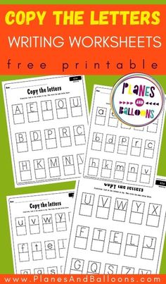 FREE Copy the letters worksheets UPPER & lowerase alphabet PDF