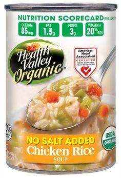 > Startling big discounts available here: Health Valley Organic No Salt Added Soup, Chicken Rice, 15 Ounce (Pack of 12) at Easy Dinner Meals.