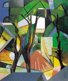 Auguste Herbin (Fr. 1882-1960), Trois Arbres, 1913, huile sur toile, 100 x 85 cm, musée d'art moderne de Céret♥♥♥