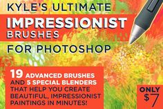 Kyle's IMPRESSIONIST Brushes for PS @creativework247