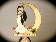 Custom Wedding Cake Topper  Custom by JolieEnRoseVintage on Etsy