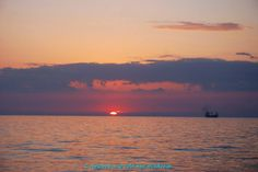 Sunset at Patraikos gulf.