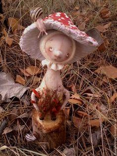 Купить Хуха - Мухоморчик - ярко-красный, осень, грибы, гриб, мухомор, мухоморчик, лес, парк