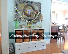 This Lady Has Great Creative Ways To Disguise Toys In The Living - Toy storage for living room