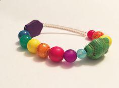 Sparkley PRIDE bracelet by CraftingAwayTheFeels on Etsy