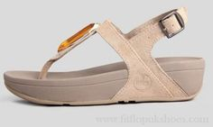 Womens Fitflop Chada Pebble Khaki Sandals