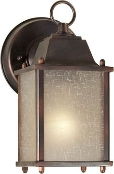 Forte Lighting 1755-01 4.5Wx8.75Hx6E Outdoor Wall Sconce Antique Bronze Outdoor Lighting Wall Sconces Outdoor Wall Sconces