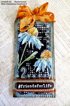 12 Tags Of 2015 April: Second Version! Card Tags, Gift Tags, Atc Cards, Timmy Time, Tim Holtz Stamps, Handmade Tags, Ideas Geniales, Paper Tags, Artist Trading Cards