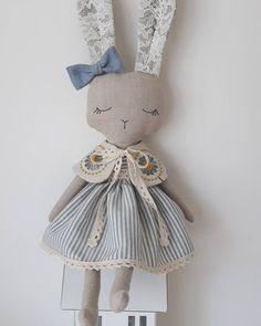 New bunny girl now is listed in my Etsy shop and looking for a new home.FREE worldwide shipping . Link in bio. #fabricdoll #handmadedolls #giftforgirls #handmade #textiledoll #heirloomdoll #bunnydoll #softtoy #babygifts #bunny #animaldoll #etsyfind #shopsmall #dollmaker #dolls #clothdolls #babygirl #decor #nursery #kids #mum