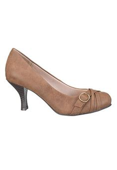 Maybe????... pearl wide width comfort pump in brown (original price, $34) available at #Maurices