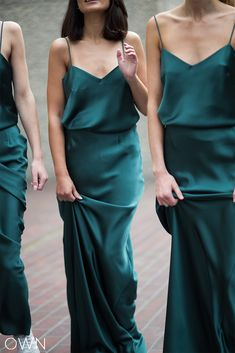 Looking for a unique dark green bridesmaid dress, skirt or top that your bridesmaids will Emerald Bridesmaid Dresses, Navy Blue Bridesmaids, Satin Bridesmaid Dresses, Wedding Dresses, Forrest Green Bridesmaid Dresses, Bridesmaid Skirt And Top, Party Dresses, Bridesmaid Tops, Bridesmaid Outfit