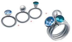 combine these beautiful rings! Swivel® - PUR