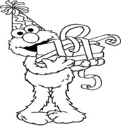 Elmo coloring pages birthday balloon ~ Elmo Coloring Pages Printable Free | Digital Stamps ...
