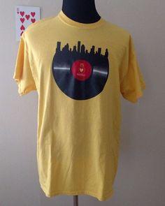 McDonalds Revolt T-Shirt Adult Size XL Yellow Vinyl Record Houston Gildan #Gildan #GraphicTee