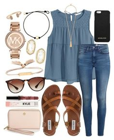 Polyvore featuring Tory Burch, MICHAEL Michael Kors, H&M, Steve Madden, Ray-