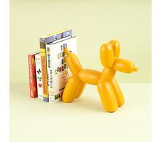 Kids' Room Décor: Colorful Orange Balloon Animal Bookends-42$-4.5lbs  FROM The Land of Nod