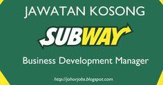 Jawatan Kosong Subway di Johor. #subwayjohorjobs