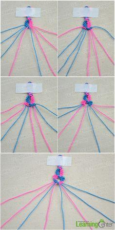 Zelf armbandje (gemaakt) maken van wol | armbandjes ...