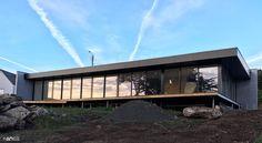 Projet de maison noire d'architecte sur une carrière à Pleumeur-Bodou (Kerenoc, Landrellec) conçu et réalisé par Anaïs Nicolas Architecte (anArchitecte)