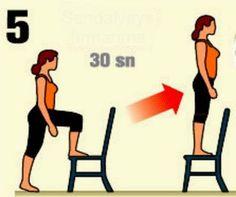 sandalyede yürüme egzersizi