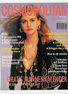 Daphne Deckers on the Cover of Cosmopolitan Netherlands, November 1989.