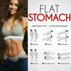 Looking for an easy stomach workout for beginners? You've got to try this Best Flat Stomach Workout at Home! Get Abs Fast, How To Get Abs, Fat Fast, Insanity Workout, Best Cardio Workout, Workout Routines, Fitness Workouts, Stomach Workouts, Exercise Workouts
