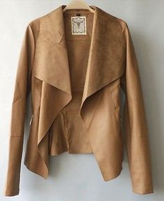 NWT+zara+lady+women's+lapel+Slim+PU+leather+motorcycle+biker+jacket+coat+P145*