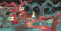 Mary Blair Alice in Wonderland concept art