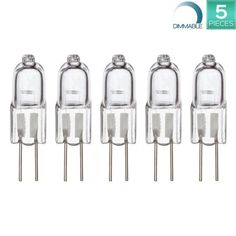 Luxrite 10-Watt Halogen Bi-Pin Light, Q10T3/G4Base/12V, T3 Shape, 2800K Warm White, 120 Lumen, Dimmable, 3000 hours, Kitchen Table Pendant Lamp Bi-Pin Warm White Landscape Desk Lighting- 5 Pack #tinycabins Tiny Cabins, Pendant Lamp, Desk, Shape, Warm, Landscape, Lighting, Kitchen, Table