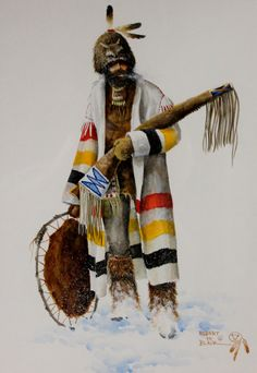 Western Artist Robert Blair Water Color Painting
