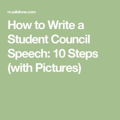 how to write a speech for school vice president