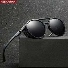 e7ca4d52b5 Polarized sunglasses men shield ummer blue round sun glasses for men mirror  uv400 male driving sunglasses. Gafas De SolModa ...