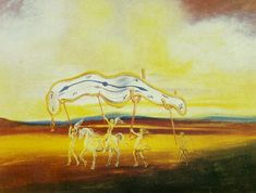 Wounded Soft Watch, 1974 by Salvador Dali. Surrealism. symbolic painting