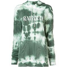 Rodarte tie-dye logo hoodie (£280) ❤ liked on Polyvore featuring tops, hoodies, green, hooded sweatshirt, tie dyed hoodies, sweatshirt hoodies, logo hoodie and green hooded sweatshirt