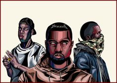 Clique  Kanye west, jay-z, and bigsean