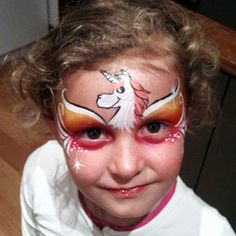 How adorable is this unicorn face paint?