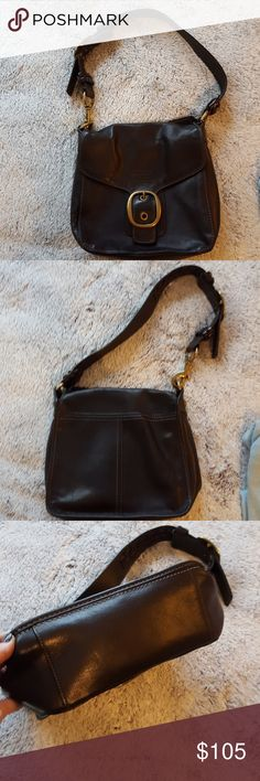 Coach Black Leather handbag. Coach Black Leather handbag. Used Coach Bags Shoulder Bags