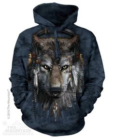 Aurora White Wolves Wolf Pack The Mountain Pullover Hoodie Sweatshirt Jacket