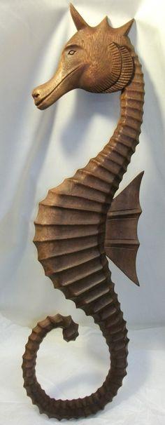 Carved Wood Seahorse