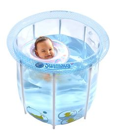 Look what I found on #zulily! Blue & Yellow Compact Baby Pool Kit #zulilyfinds