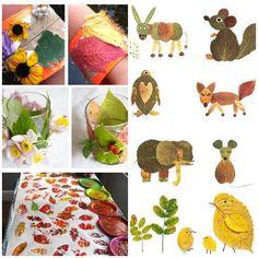 Jesenné hry pre deti, výrobky z lístia