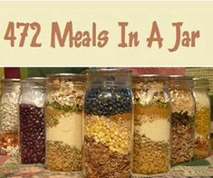 472 Meals In A Jar Recipes - SHTF Preparedness #survivalprepping #bushcraftsnacks